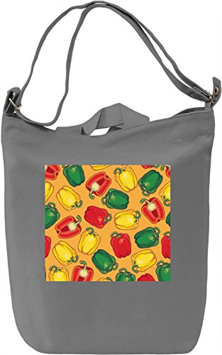 Paprica Print Borsa Giornaliera Canvas Canvas Day Bag| 100% Premium Cotton Canvas| DTG Printing|