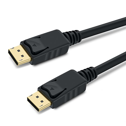 GearIT 10-Pack, Gold Plated DisplayPort to DisplayPort Cable 15 Feet - 4K Resolution Ready (DP to DP Cable) Black by GearIT