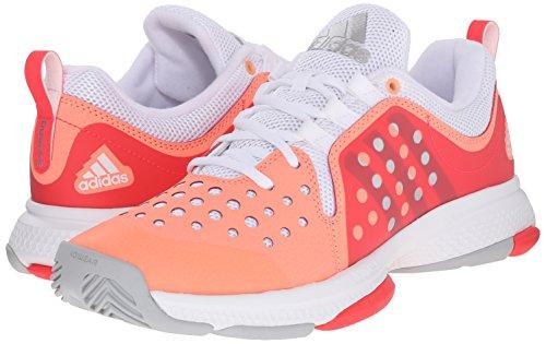 adidas Performance Women's Barricade Classic Bounce W Training Footwear,Sun Glow Yellow/Metallic Silver/Shock Red,9.5 M US by adidas (Image #6)