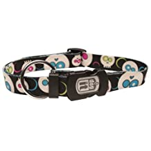 Dogit Style DA Face Small Adjustable Nylon Collar with Plastic Snap, 3/8-Inch by 10-Inch- 16-Inch, Black