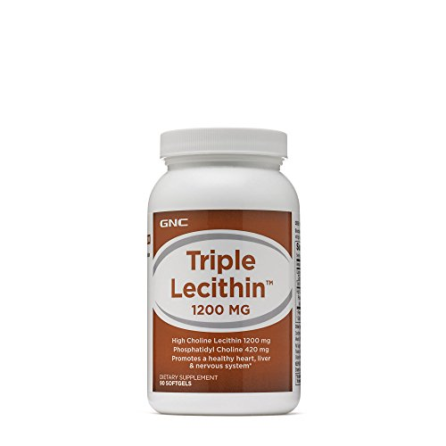 GNC Triple Lecithin 1200 MG, 90 Softgels