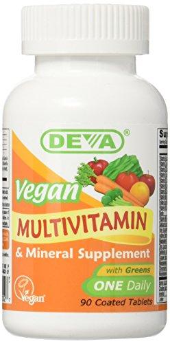 Deva Nutrition - Vegan Multivitamin & Mineral - One Daily - 90 Count