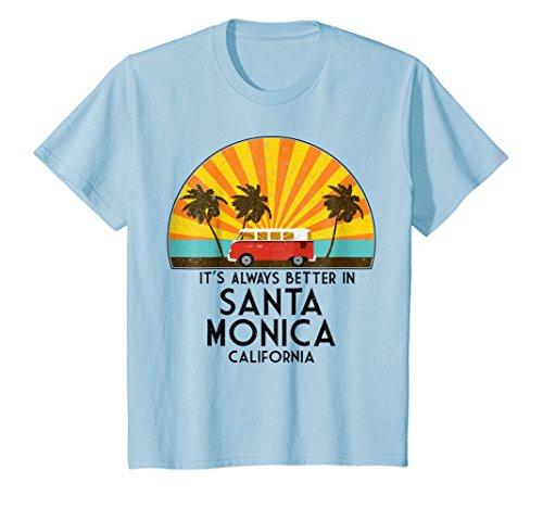 - Kids Santa Monica California Souvenir T-Shirt - Santa Monica Gift 4 Baby Blue