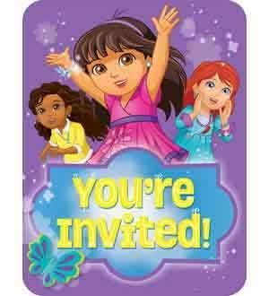 Amscan Dora and Friends Teen Invitations [2 Retail Unit(s) Pack] - 491468 ()