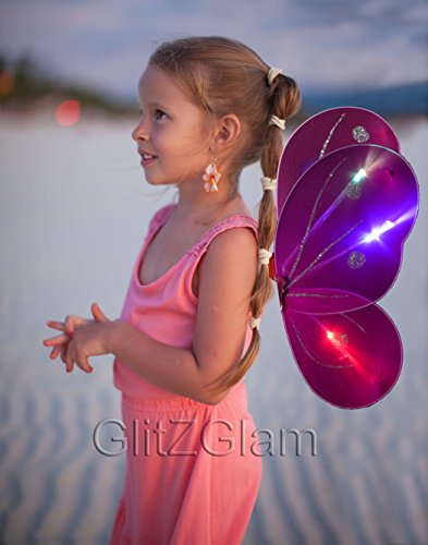 Butterfly Wing / Fuschia Fairy Wing Costume for Girls - Glow in the -