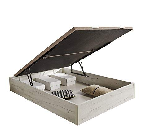 HOGAR24.es 3D- Canapé abatible de Madera de Gran Capacidad Tapa 3D Transpirable Color Blanco vintage-150x190cm: Amazon.es: Juguetes y juegos