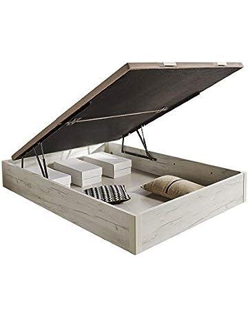 HOGAR24.es 3D- Canapé abatible de Madera de Gran Capacidad Tapa 3D Transpirable Color