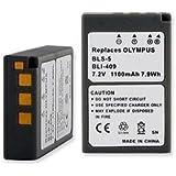 Olympus PEN E-PL8 Digital Camera Battery (Li-Ion 7.2V 1100mAh) - Replacement For Olympus BLS-5 Digital Camera Battery