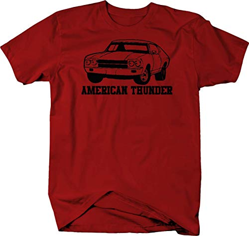 American Thunder Chevy Chevelle Nova SS Classic Muscle Car Tshirt - XLarge