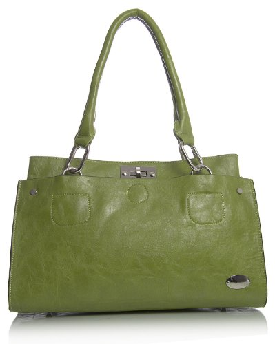 spalla Big donna in dunkel Shop Teal ecopelle Blu borsa lo Handbag qRrHIR