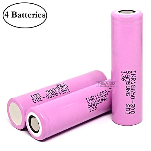 4-Pack - INR1865030Q High Drain Lithium-ion 18650 Battery