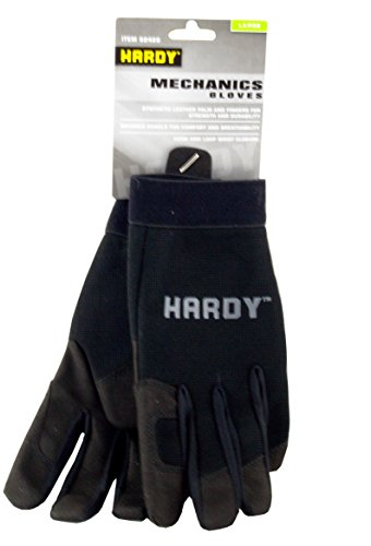 Hardy Synthetic Leather/Spandex Mechanics Gloves Large