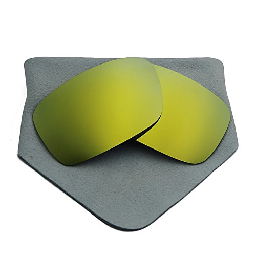 Polarized Lenses Replacement for Oakley Crankcase 24K Golden - Polarized Crankcase Oakley Lenses