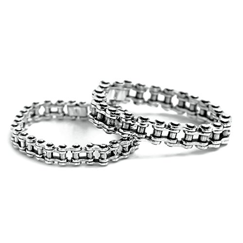 Daesar 925 Silver Bracelet For Women And Men Locomotive Chain Couple Bracelet Silver Chain Length:19CM by Daesar