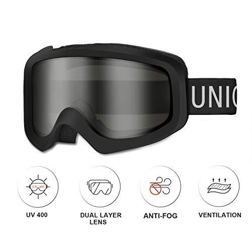 Unigear Skido X1 Ski Goggles, Snowboard Snow Goggles for Men, Women & Youth - Anti-Fog & 100% UV Protection