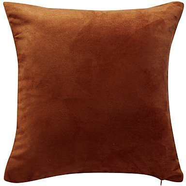 Lumimi Solid Faux Suede Decorative Pillow Cover ( 18*18 ) ()