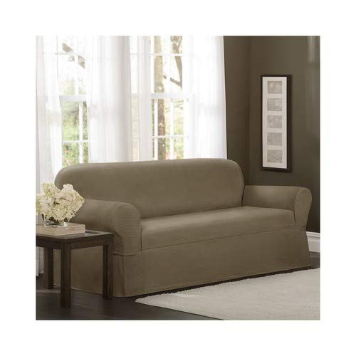 MAYTEX 4100142 Torie Stretch 1Piece Furniture Cover/Slipcover, Tan (Medallion Stretch)