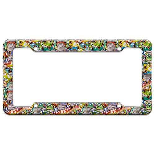 - Graphics and More Tropical Rainforest Tree Frog Pattern License Plate Tag Frame