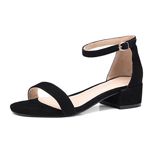 uretano novedad Un de sólido de sandalias negro de la vestido DIU00966 mujeres las IOvqp