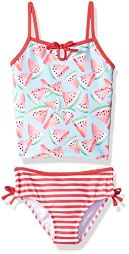 Nautica Baby Toddler Girls' Tankini Swim Suit, Medium Pink Watermelon, (2 Piece Toddler Swimsuit)