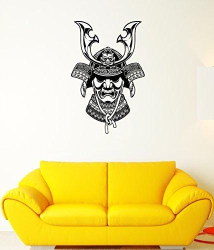 Crystal Emotion Wall Decal Japan Mask Horns Warrior Samurai East Mural Vinyl Stickers Ed Best Decoration For Room