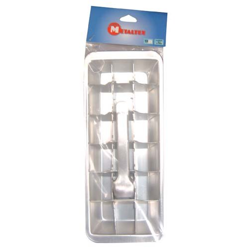 (Metaltex Aluminum Ice Cube Tray with Ejector)