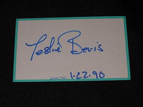 Spaceballs Actress Leslie Bevis Signed Autograph Old-time 3x5 Index Card EC13