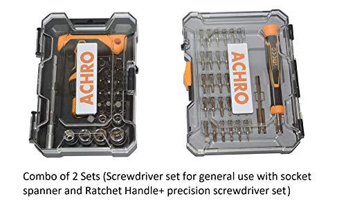 ACHRO Screwdriver Set of 50 Pieces/Scewdriver Set for Home/Precision Screwdriver Set for Home with Box spanners/Screwdriver Set for Mobile/Laptop/iPhone/ipad/MacBook Price & Reviews