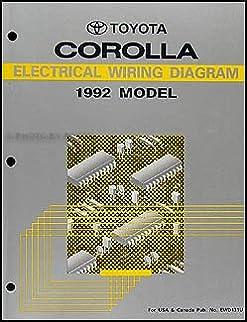 1992 toyota corolla wiring diagram manual original toyota amazon Wiring Diagram 1989 Toyota Corolla SR5