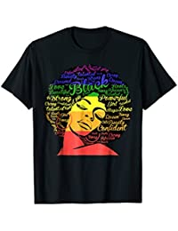 Strong Black Woman With Afro Word Art Natural Hair Tee Shirt