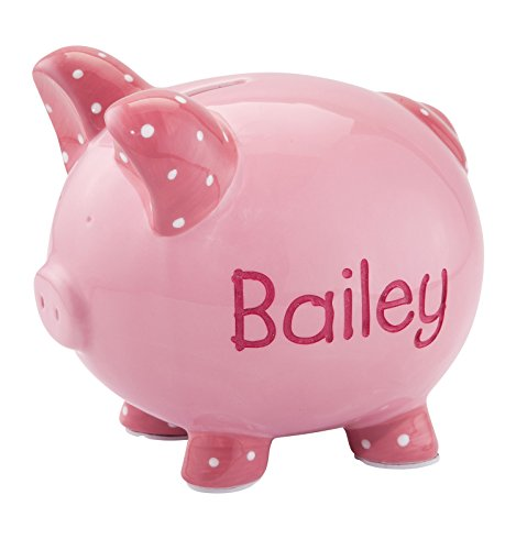 Personalized Etched Childrens Piggy Bank