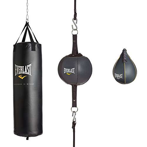 Everlast 100Lb 3Piece Heavy Bag Kit 100 Lb 3Piece Heavy Bag Kit, Black, 100lbs by Everlast