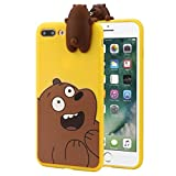 Urberry Big iPhone 8+/7+ Case, 3D Cartoon Case for Large iPhone 7PLus/8Plus with a Screen Protector (Yellow)