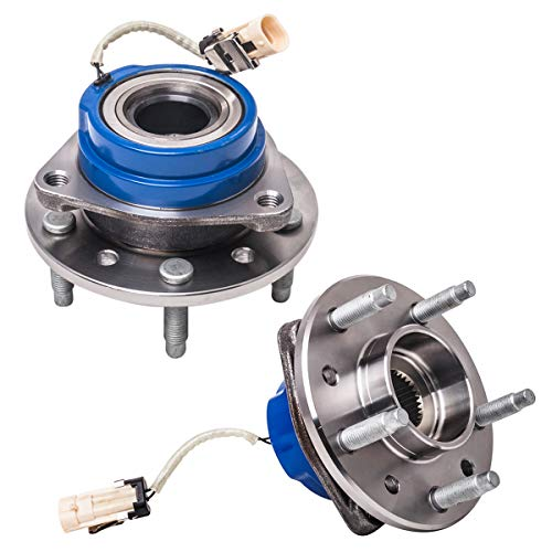 Front Wheel Hub and Bearing Assembly Left or Right Compatible Chevrolet Classic Malibu Alero Oldsmobile Cutlass (excluding Supreme Models) Pontiac Grand Am AUQDD 513137 x2 (Pair) [ 5 Lug W/ABS ] ()