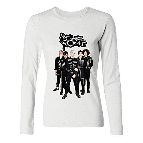 IIOPLO Women's MCR My Chemical Romance Long Sleeve T-shirt White XXL -