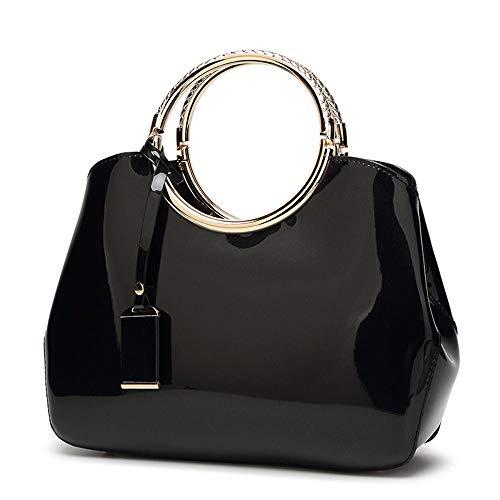 Bright Lap Handbag Bag Shoulder Hongge Woman Fashion Hundred D Pu Patent Lady's K31J5ucFTl