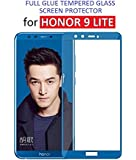 Dashmesh Shopping Edge to Edge - Full Glue), 3D [Shatterproof] Full Front Body Cover Tempered Glass Screen Guard For Honor 9 Lite - (Blue)