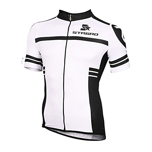 STRGAO Hommes Breathable Cycling Manches Courtes Cycling Jersey Vêtements Sports et Loisirs Maillot de Cyclisme Manches Courtes 4XL