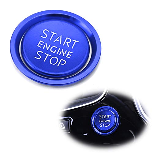 iJDMTOY (1) S-Line RS Style Blue Aluminum Keyless Engine Push Start Button w/Surrounding Ring Trim For Audi A4 A5 A6 A7 A8 Q5, etc