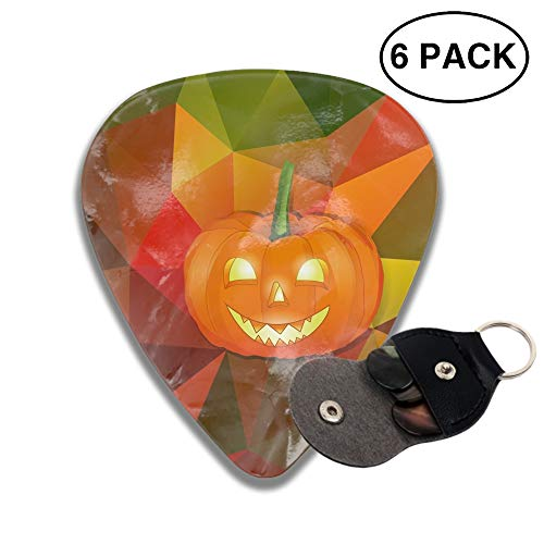Halloween Background 3D Color Printed Guitar and Bass Pick Gift Silver -