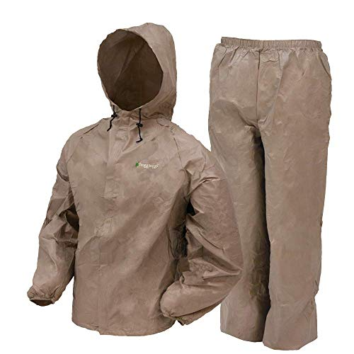 Frogg Toggs Ultra-Lite2 Waterproof Breathable Rain Suit, Men's, Khaki, Size Large
