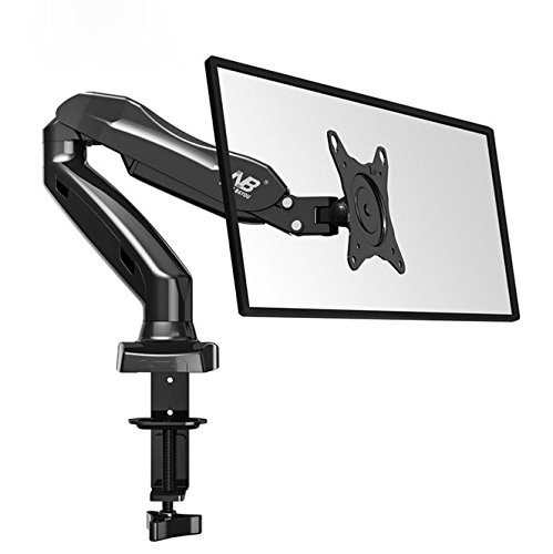 17' Lcd Flat Screen - Yopih North Bayou Full Motion Desk Mount with Mount and Gas Spring for Computer Monitors 17'' - 27 LED LCD Flat Panel TVs from 4.4lbs upto 14.3lbs F80