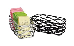 American Metalcraft Birdnest Sugar Packet Basket, Chrome