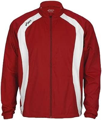 Chaqueta de calentamiento Asics Caldera para hombre (XL, rojo ...