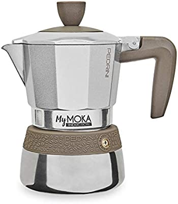 Pedrini Cafetera mymoka Induction, 2 tazas: Amazon.es: Hogar