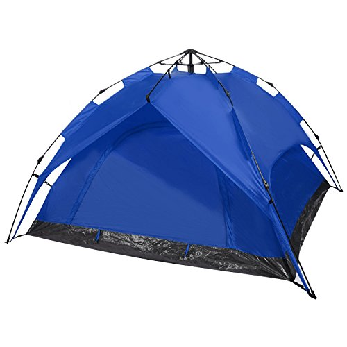 YUEBO Instant Setup Beach Tent Pop Up Tent Waterproof Hydraulic Tent for 2 Person 4 Season with Carry Bag Blue