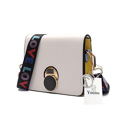 Bolsos de Boho de la correa elegante del color cambiable de Yoome para las mujeres Bolsos del maquillaje de Crossbody para las muchachas