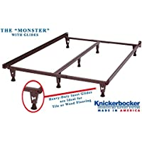 Model KB2007G - Heavy Duty Metal Bed Frame w/Glides ONLY - Knickerbocker Monster Version without Wheels - 5-in-1: Twin,Full, Queen,King,California King