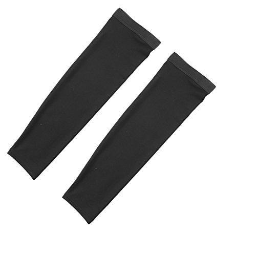 DealMuxポリエステルアウトドア乗馬アンチUV伸縮アームスリーブカバー保護インテリアペアブラック B072SJZZPH