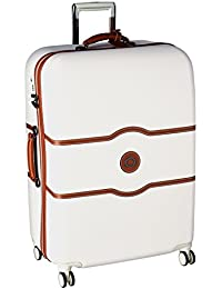 Chatelet Hard+ Hardside Large Checked Spinner Suitcase, Champagne White, 28-Inch
